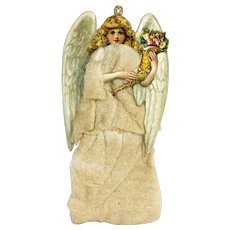 Antique German Cotton Batting Christmas Angel Ornament ca1900
