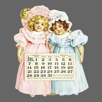 Antique Advertising Hood's Sarsaparilla Proverb Calendar ca1900