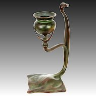 Antique Tiffany Studios Bronze Cobra Candlestick ca1910