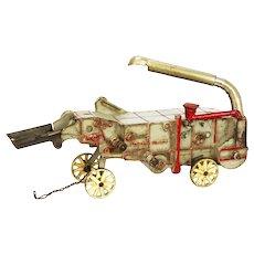Vintage Arcade McCormick Deering Thresher Cast Iron Farm Toy ca1930