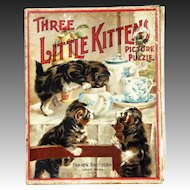 Antique Parker Brothers Three Little Kittens Picture Puzzle