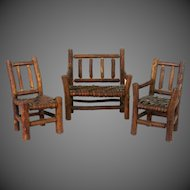 Vintage Miniature Doll / Dollhouse Furniture 3 Pieces