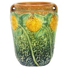 Vintage Roseville Pottery Sunflower Vase ca1930