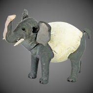 Antique German Paper Mache Nodder Elephant Candy Container ca1910