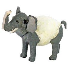 Antique German Paper Mache Nodder Elephant Candy Container ca1910