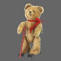 Vintage Wind Up Schuco Rolly Bear ca1950
