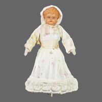Antique German DRGM Wind Up Mechanical Rolling Dancing Doll ca1910