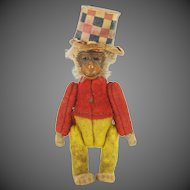 Antique Miniature Jointed Schuco Monkey