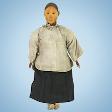 Antique Chinese Door of Hope Wood Doll