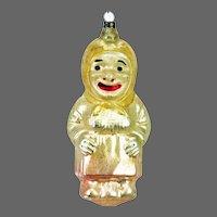 Antique German Blown Glass Woman Peasant Christmas Ornament ca1910