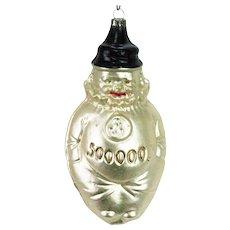Antique German Blown Glass Clown Christmas Ornament ca1910