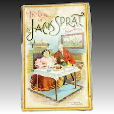 Antique Parker Brothers Board Game The Game of Jack Sprat