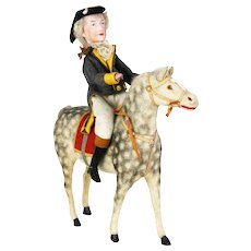 Antique German Horse Candy Container with George Washington Rider ca1910