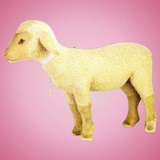 Vintage Large Steiff Lamb with Voice box/Noisemaker ca1920