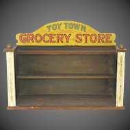 Vintage Parker Brothers Toy Town Grocery Store Display Diorama ca1920