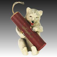 Antique German Polar Bear with Cracker Candy Container ca1910