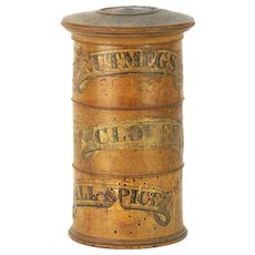 Antique Turned Wood Treen Spice Tower ca1890