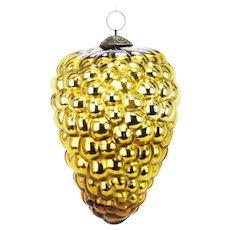 Antique Very Large Gold Grape Kugel ca1880