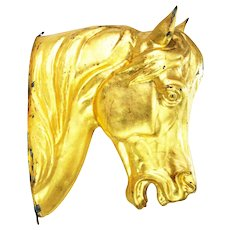 Antique Molded Tin Horse Head Advertising Sign Store Display ca1880