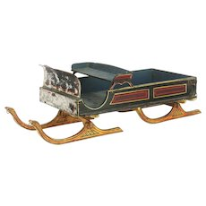 Antique Early American Miniature Sleigh ca1880