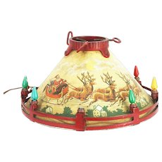 Vintage Electric Light Christmas Tree Stand ca1920