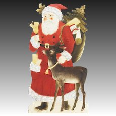 Antique Large Die Cut Santa ca1915