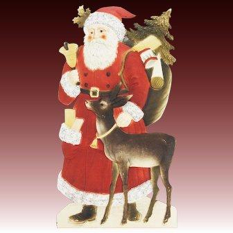 Antique Large Die Cut Santa ca1915
