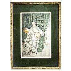 Louis Icart Casanova Framed Limited Print ca1920