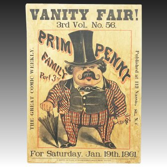 Antique Vanity Fair Advertising Poster ca1861