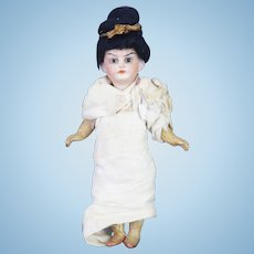 Antique German Bisque Head Asian Doll ca1910