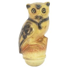 Antique Celluloid Roly Poly Halloween Owl