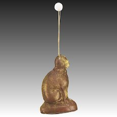 Antique German Dresden Cat Christmas Ornament ca1910