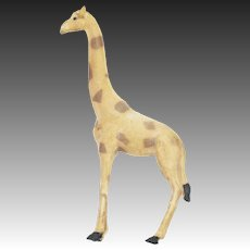 Antique German Dresden Giraffe Christmas Ornament ca1910