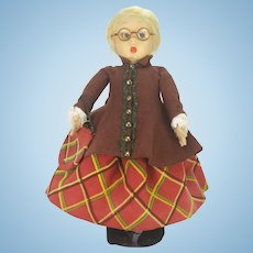 Antique Lenci Googly Eye Cloth Doll