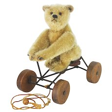 Antique Steiff Record Teddy Pull Toy ca1915