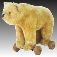 Antique Steiff Bear Pull Toy ca1920