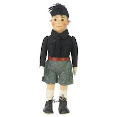 Antique Rare Steiff Fascist Boy Doll ca1920