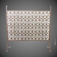 Antique Arts & Crafts Hand Wrought Iron Fireplace Screen