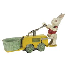 Vintage Prewar Lionel Wind Up Peter Rabbit Train Hand Car Chick Mobile ca1935