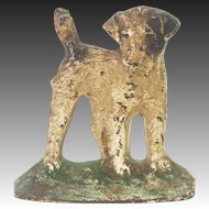 Vintage Cast Iron Dog Doorstop bookend ca1920
