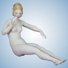 Antique German Bisque Nude Bathing Lady ca1910