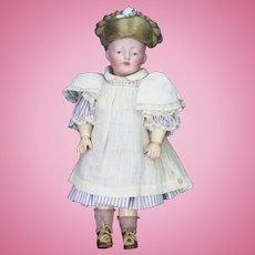 "Antique German Rare Kestner 178 Bisque Head Doll 11"""