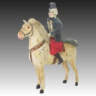 Antique German Horse With Clown Rider Candy Container ca1910