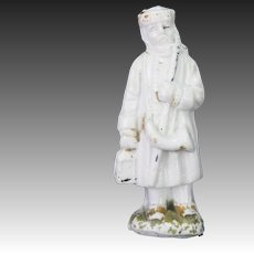 Antique German China Santa Whistle ca1880