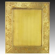 Antique Large Tiffany Studios Grapevine Pattern Bronze Frame ca1910