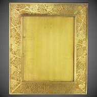 Antique Large Tiffany Studios Grapevine Pattern Bronze Frame ca1910