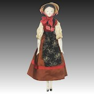 Antique German Large Grodnertal Wood Doll