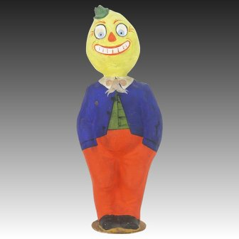 Antique German Large Halloween Veggie Man Candy Container ca1910