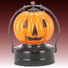 Vintage Electric Glass Halloween Pumpkin Lantern Light ca1950