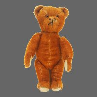 Vintage German Rare Orange Mohair Bear ca1920